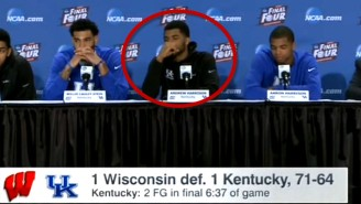 Hot Mic Catches Kentucky's Andrew Harrison Saying Some NSFW Things About Frank Kaminsky (UPDATE)