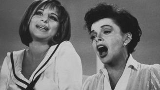 One woman sings 'Get Happy' as both Judy Garland and Barbra Streisand