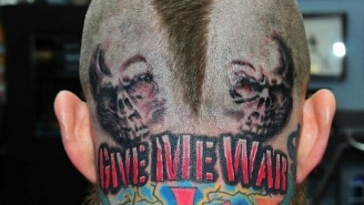 Check Out Chris 'Birdman' Andersen's Terrifying New 'Give Me War' Head Tattoo