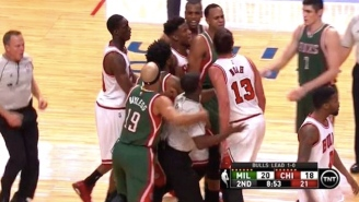 Bulls, Bucks Get Into Something Almost Resembling A Fight