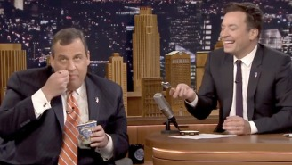 Chris Christie Dug Into A Pint Of Ben & Jerry's On 'The Tonight Show'