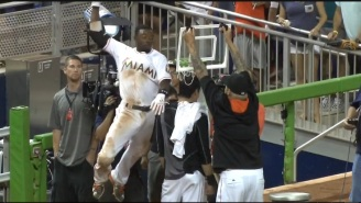 Christian Yelich Walked-Off For The Marlins, So Dee Gordon Posterized Him With This Dunk