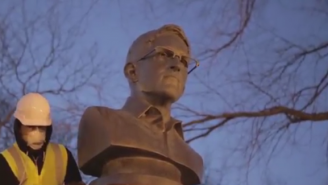 These Artists Added A Bust Of Edward Snowden To A Brooklyn War Memorial
