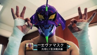 New Japan Pro Wrestling And Neon Genesis Evangelion Collide For April Fools' Day