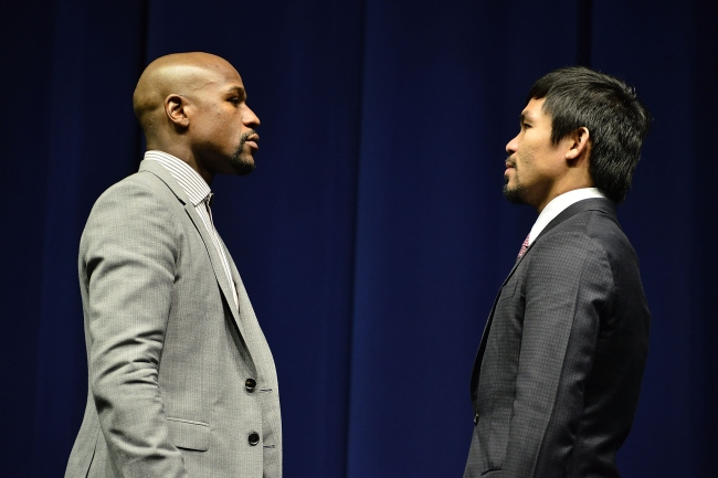 Floyd Mayweather And Manny Pacquiao Los Angeles Press Conference
