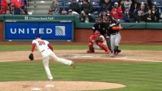 Giancarlo Hit A Baseball Stupid Hard For This Line Drive Home Run