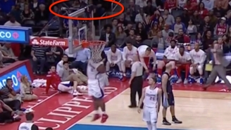 Side-Splitting: Glen Davis Badly Fails To Grab This T-Shirt Stuck On The Backboard