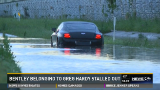 Greg Hardy's Worst Week Ever Continues When His Bentley Gets Stuck In A Flood