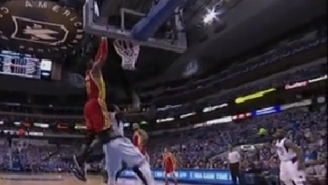 Josh Smith Finds Dwight Howard For The Alley-Oop Off The Pick-And-Roll