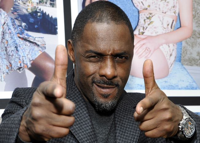 Idris Elba finger guns