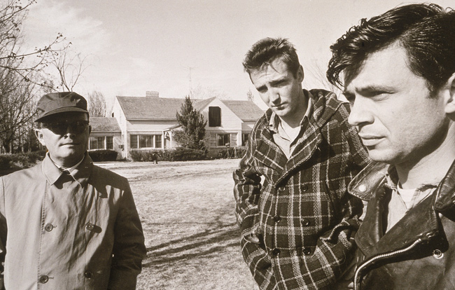 Capote, with Scott Wilson and Robert Blake, on the set of 'In Cold Blood' in 1967