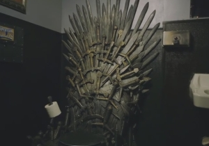 The World's Luckiest 'Game Of Thrones' Fan Had His Toilet Turned Into The Iron Throne