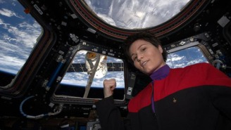 This ISS Astronaut's 'Star Trek' Cosplay Photo Is Out Of This World, Literally