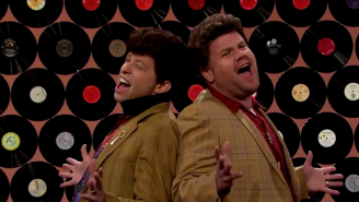 Watch Jon Cryer And James Corden Recreate Duckie's Dance From 'Pretty In Pink'