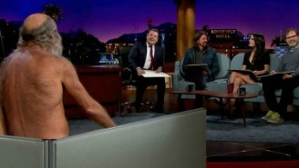 Dave Grohl, Rainn Wilson, And Jordana Brewster Sketched A Naked Old Man On 'The Late Late Show'