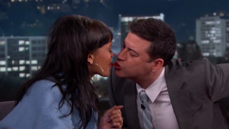 Jimmy Kimmel And Rihanna Gave The World A 'Twizzler Challenge' Worth Watching