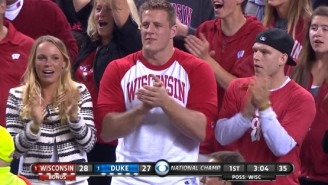 Why Is J.J. Watt At The National Championship Game With Caroline Wozniacki?