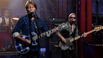 John Fogerty And His Awesome Guitar Continued David Letterman's Classic Rock Goodbye