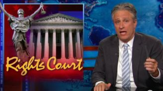 Jon Stewart destroys antigay Supreme Court opinions