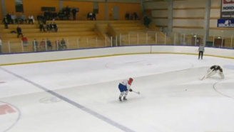 Watch This Junior Hockey Player Serve Up The Worst Shootout Goal Attempt We've Ever Seen