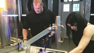 In Case You Didn't Have Enough Fan Fiction Ideas, Here's WWE's Kane And Paige On The Set Of 'Doctor Who'