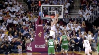 LeBron Threw An Insane Halfcourt Lob To His MVP Kevin Love