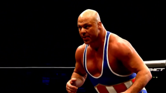 Kurt Angle Wants You To Know About The Time He Out-Wrestled Brock Lesnar