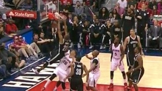 Nets Rookie Markel Brown Gets Up For The Monster Putback Jam Against The Hawks