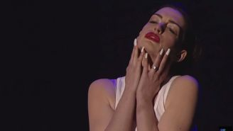Anne Hathaway's 'Wrecking Ball' lip-sync will indeed wreck you