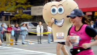 A College Student Will Run The London Marathon Dressed Like A Pair Of Testicles