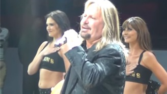 Watch Mötley Crüe's Vince Neil Terrorize An Arena Football Crowd With His Version Of The National Anthem