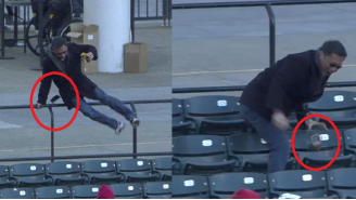 Cleveland Indians Fan Has Zero Chill, Dumps Beer And Cell Phone To Chase Foul Ball