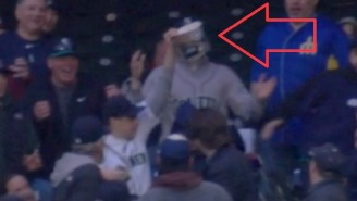 This Guy Caught A Foul Ball With A Bucket Of Popcorn, And It Was A Mess