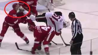 A Red Wings Player Took A Skate Blade To The Face And The Results Were Predictably Gruesome