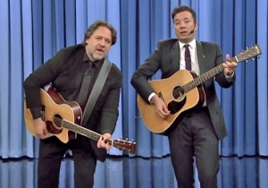 Russell Crowe And Jimmy Fallon Sang 'Balls In Your Mouth' For Earth Day, As One Does