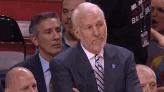Watch Gregg Popovich's Priceless Reaction To Mario Chalmer's Deep Half-Court Shot