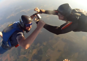 Watch This Sky Diver's GoPro Take A Dizzying Journey After Being Dropped From 3000 Meters
