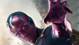 Get A Good Look At The Vision With His Character Poster For 'Avengers: Age Of Ultron'