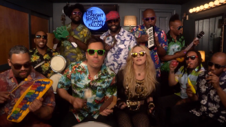 Watch Madonna Recreate Her Classic Hit 'Holiday' With Jimmy Fallon, The Roots, And Kid Instruments