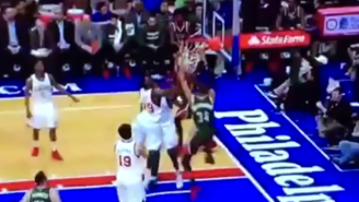 Giannis Antetokounmpo Debuts A New Move Before Slamming It Home