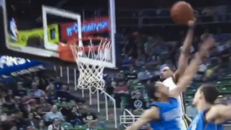 Tiny Bryce Cotton Soars Over Mavericks For Big Alley-Oop