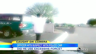See The Shocking Video Of An Arizona Police Officer Driving His Cruiser Into A Suspect