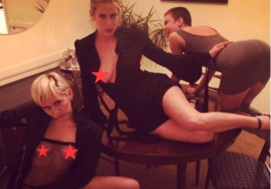 Bruce Willis' Daughters And Miley Cyrus Are Flashing Their Boobs And Butts On Instagram