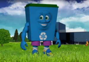 The NSA's New Recycling Mascot 'Dunk' Will Haunt Your Dreams