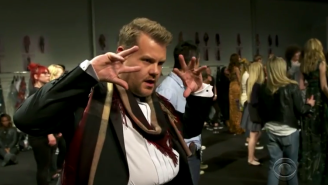 James Corden Walked The Runway At Burberry's 'London In Los Angeles' Fashion Show