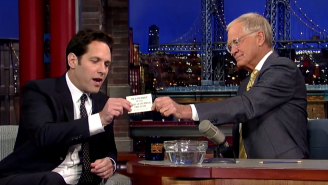 Paul Rudd Was A Member Of The David Letterman Fan Club And He Has The Button To Prove It