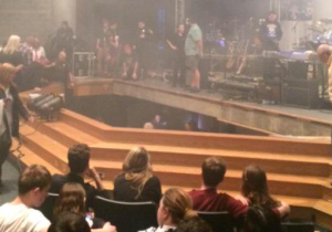 Here's Video Of A Frightening Stage Collapse During An Indiana High School Performance