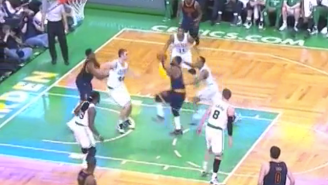 Kyrie Irving Freezes Avery Bradley With This Sick Crossover On His Way To The Rim