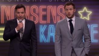 Chris Pratt Sang 'Nonsense Karaoke' With Jimmy Fallon On 'The Tonight Show'