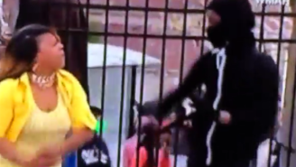 It Appears As Though This Baltimore Mom Was Not Pleased To Catch Her Son Rioting
